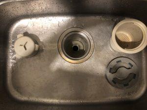 京都市 右京区 台所排水が流れません