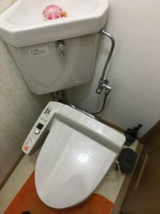 京都市 西京区 ウォシュレットから水が滴る・・・。