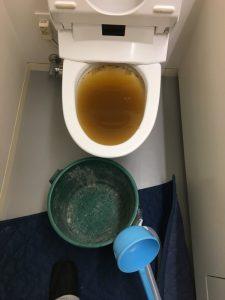 京都市 中京区 ホテルのトイレ詰まりです
