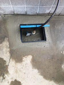 豊中市 散水栓の破損 交換作業