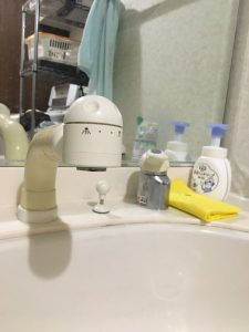 茨木市 洗面の排水トラップの水漏れです。