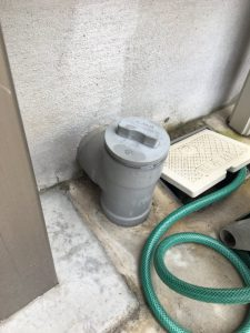 豊中市 台所排水詰まり 排水桝洗浄作業