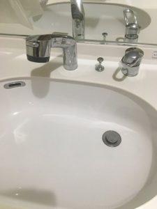 高槻市 MYM洗面蛇口 シャワーホース交換