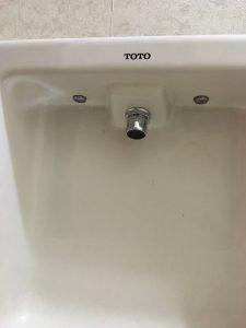 吹田市 TOTO L590 手洗器蛇口修理 交換