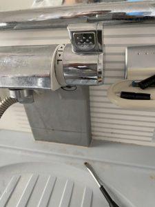 吹田市 垂水町 KVK浴室蛇口修理 切替弁交換作業
