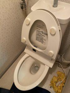 川西市 トイレにパットを落としてしまった・・・ トイレ取り外し