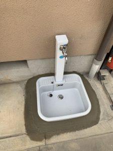 豊中市 外の蛇口から水漏れ ガーデン板交換 給排水切換え工事 水栓柱交換