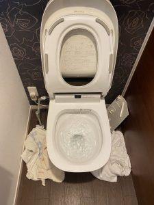 守口市 アラウーノトイレ詰まり パナソニック タンクレストイレ