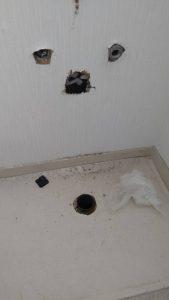 吹田市 漏水調査 洗面の中からシューーっと音がする。