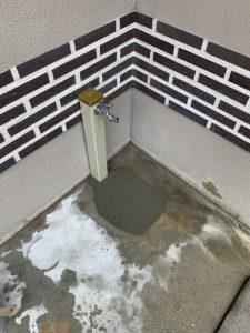 高槻市 散水栓水漏れ 散水栓から水栓柱に変更