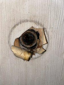 吹田市 トイレの水圧が弱い? 水道管に錆