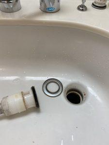 宝塚市 松下 パナソニック 洗面排水水漏れ トラップ交換