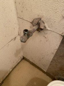 京都市 西京区 マンションのトイレの交換 壁排水