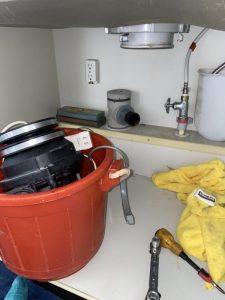 豊中市 ディスポーザー水漏れ 排水栓に交換