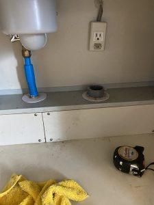 茨木市 テラルディスポーザーの撤去 排水栓取り付け 排水管加工