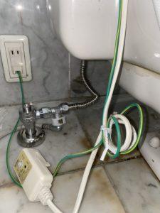 羽曳野市 トイレの壁付近から水漏れ? 給水管破損!?
