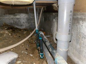 尼崎市 床下から水漏れ!? 水道管の破損