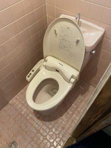 豊中市 トイレ交換工事 床・排水移設工事