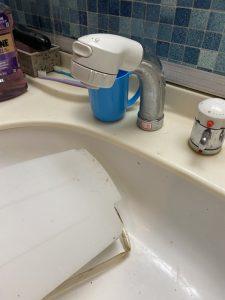 豊中市 洗面シャワーホース交換 パナソニック ナショナル