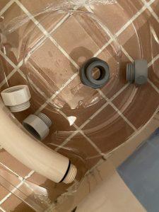 豊中市 お風呂のシャワー水漏れ シャワーホース交換