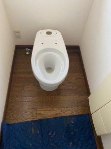 京都市 伏見区 トイレ交換工事 一体型 TOTO
