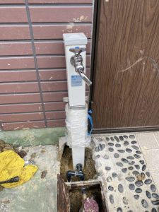 伊丹市 水道メーターが回ってる? 水栓柱水漏れ 水道管破損