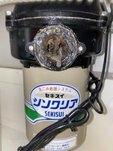 大阪市 天王寺区 セキスイディスポーザー撤去 排水栓取り付け 排水管接続