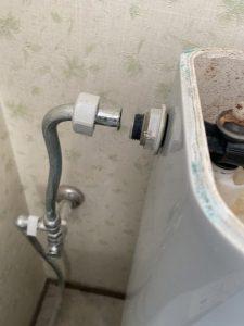 茨木市 トイレ水漏れしてるかもしれない ボールタップ交換