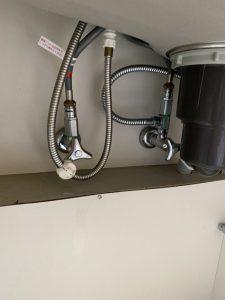 枚方市 台所の下が濡れている!? 蛇口交換 ハンドシャワー