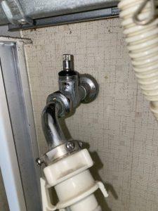 吹田市 洗濯蛇口水漏れ スピンドルパッキン交換
