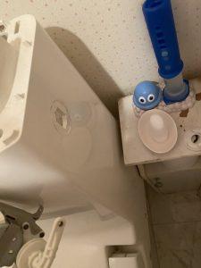 枚方市 一体型トイレのレバー故障 自動から手動に