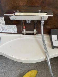 吹田市 KVK浴室蛇口水漏れ 切替弁交換 埋め込みタイプ