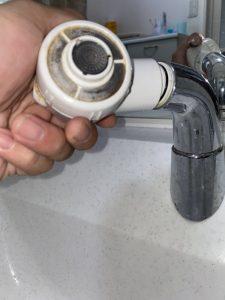 茨木市 洗面蛇口シャワーホース交換 FA247 パナソニック MYM