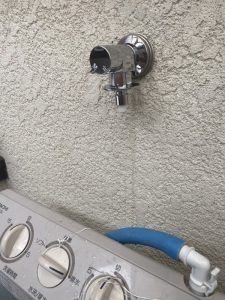 枚方市 洗濯蛇口水漏れ 2層式洗濯機 洗濯専用蛇口