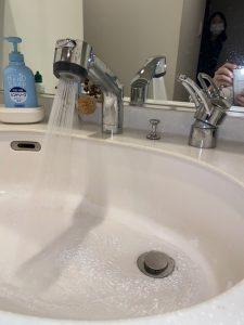 西宮市 洗面シャワーホース交換 MYM カプラー交換
