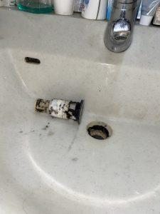 神戸市 洗面排水の水漏れ パナソニック ナショナル