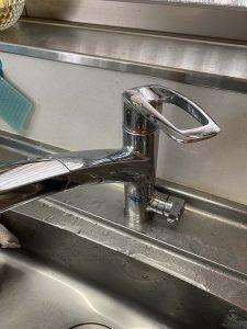西宮市 台所蛇口修理 浄水器付き カートリッジ交換