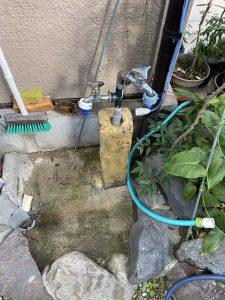 豊中市 外の蛇口の水漏れ 水栓柱 水道管水漏れ