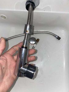 大阪市淀川区 Panasonic洗面蛇口修理 水漏れ シャワーホース交換