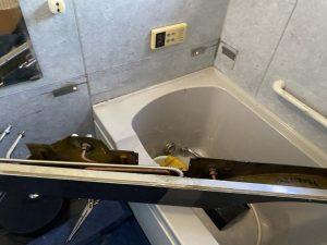 枚方市 お風呂の蛇口水漏れ ミカド ミズタニ カウンター付き蛇口