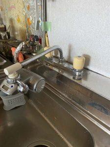 京都市南区 台所蛇口故障 水漏れ ポタポタ 蛇口交換