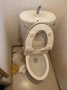 東大阪市 トイレ詰まり リモデルトイレ 物が落ちてる?
