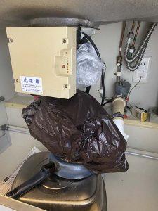 大阪市 ディスポーザーの撤去 排水管取り付け