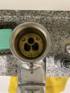 芦屋市 洗面蛇口修理 カクダイシングルレバー カートリッジ交換