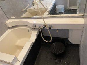 ミカドのお風呂 ミズタニの蛇口 カウンター外して新しい蛇口取り付け 大阪