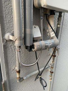 茨木市 給湯器用給水水漏れ フレキパイプ水漏れ 交換保温