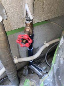 吹田市 水道管が折れた? 給水管破損 止水栓交換