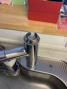 池田市 台所蛇口水漏れ修理 タカギ カートリッジ交換