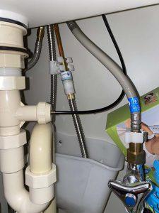 西宮市 洗面蛇口水漏れ シャワーホース交換