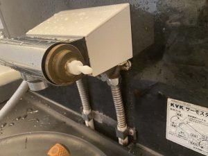 高槻市 浴室蛇口修理 KVK KF805 切替弁交換